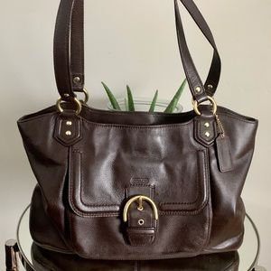 COACH CAMPBELL BAG LEATHER BELLE CARRYALL PURSE